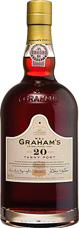 Personalised Graham's 20 Year Old Tawny Port 75cl engraved bottle
