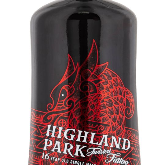 Personalised Highland Park 16 Year Old Twisted Tattoo 70cl Engraved Whisky engraved bottle