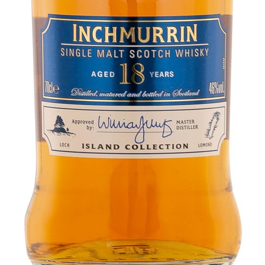Personalised Inchmurrin 18 Year Old 70cl Engraved Single Malt Whisky engraved bottle