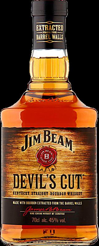 Personalised Jim Beam Devil's Cut Bourbon 70cl engraved bottle