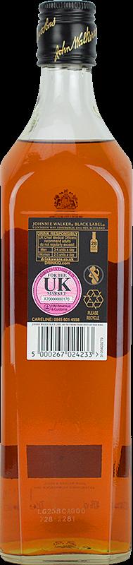 Personalised Johnnie Walker Black Label Whisky 70cl engraved bottle