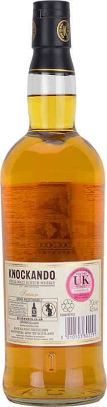 Personalised Knockando 12 Year Old Whisky 70cl engraved bottle