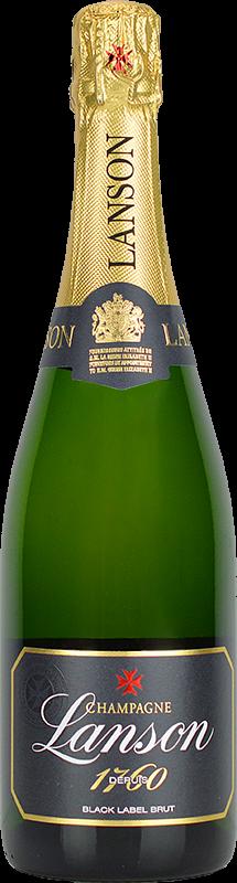 Personalised Lanson Black Label Magnum Champagne 150cl engraved bottle