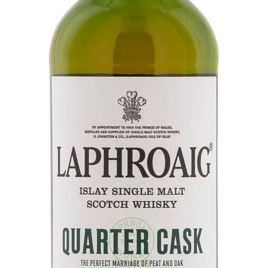Personalised Laphroaig Quarter Cask 70cl Engraved Single Malt Whisky engraved bottle