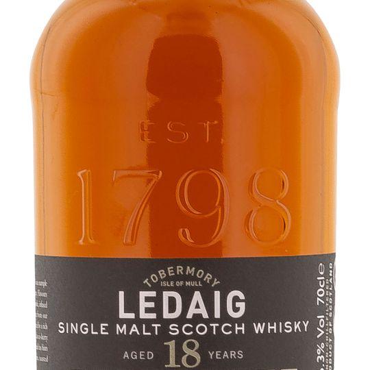Personalised Ledaig 18 Year Old 70cl Engraved Single Malt Whisky engraved bottle