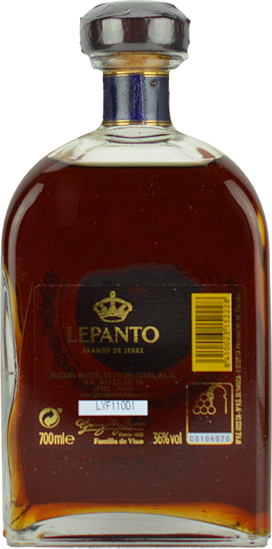 Personalised Lepanto Solera Gran Reserva Brandy 70cl engraved bottle