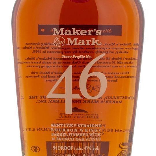 Personalised Makers Mark 46 70cl Engraved Bourbon engraved bottle