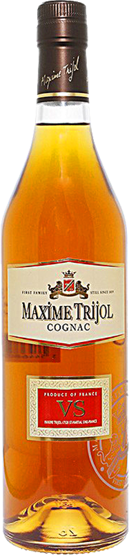 Personalised Maxime Trijol VS Cognac 70cl engraved bottle