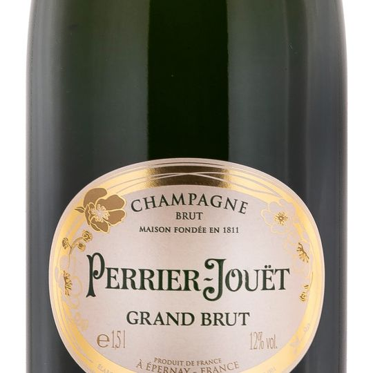 Personalised Perrier Jouet Grand Brut NV Magnum 150cl Champagne engraved bottle