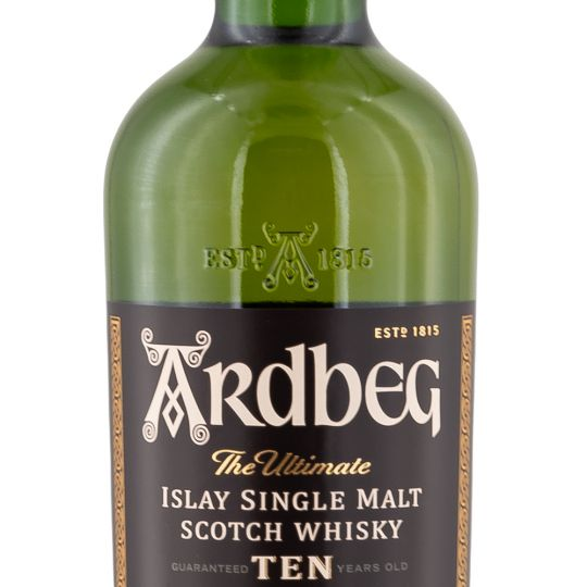 Personalised Ardbeg 10 Year Old Whisky 70cl engraved bottle