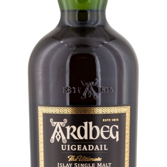 Personalised Ardbeg Uigeadail Whisky 70cl engraved bottle