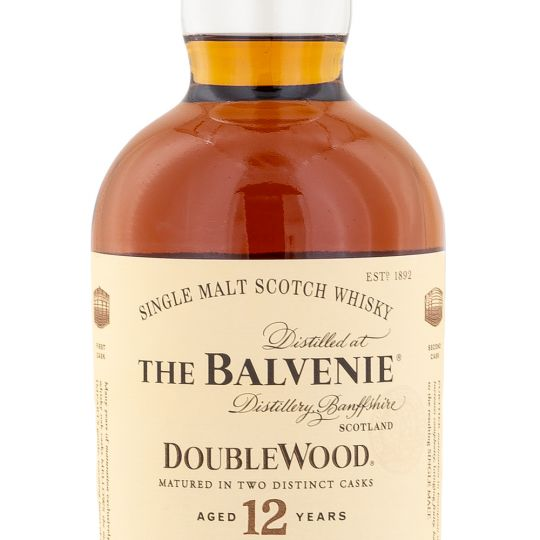 Personalised Balvenie 12 Year Old Double Wood Whisky 70cl engraved bottle