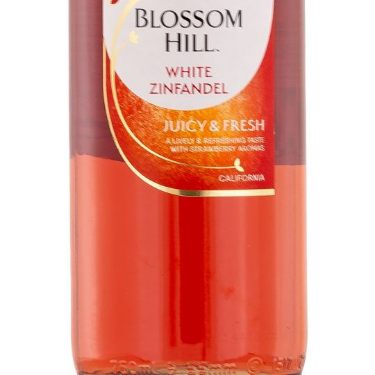 Personalised Blossom Hill White Zinfandel Rose Wine 75cl engraved bottle