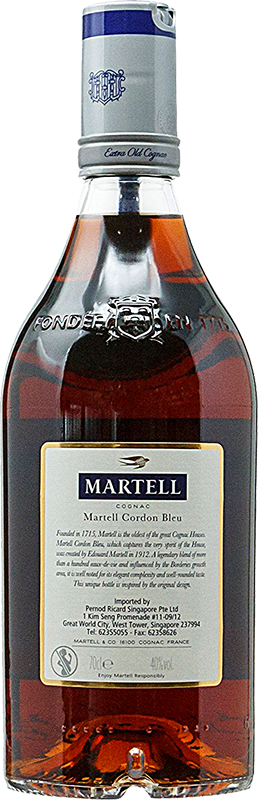 Personalised Martell Cordon Bleu Cognac 70cl engraved bottle