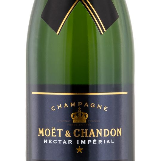 Personalised Moet and Chandon Nectar Imperial Champagne 75cl engraved bottle
