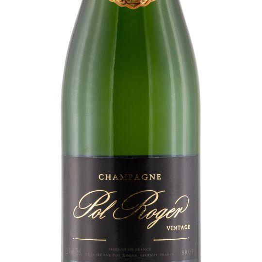 Personalised Pol Roger Brut Vintage 75cl Engraved Vintage Champagne engraved bottle