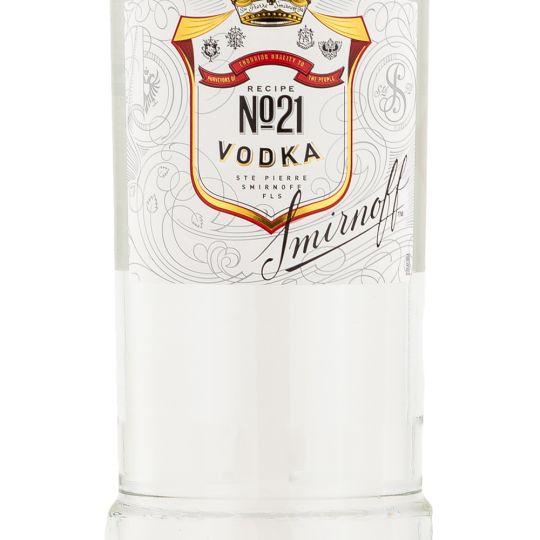 Personalised Smirnoff Red Vodka 100cl engraved bottle