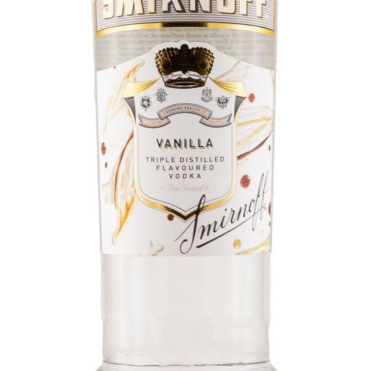 Personalised Smirnoff Vanilla Vodka 70cl engraved bottle