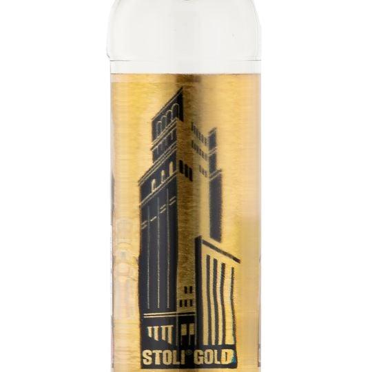 Personalised Stolichnaya Gold Label Vodka 70cl engraved bottle