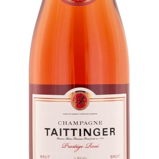 Personalised Taittinger Brut Prestige Rose Champagne 75cl engraved bottle