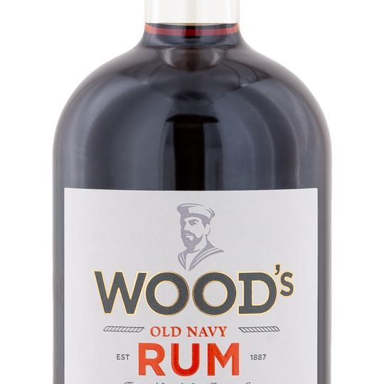 Personalised Woods 100 Navy Rum engraved bottle