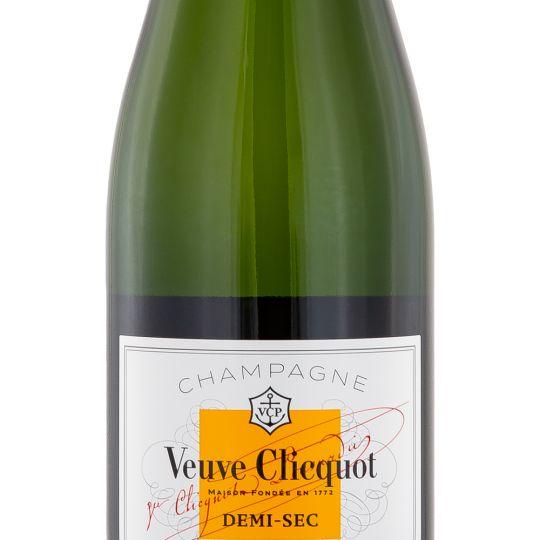 Personalised Veuve Clicquot Demi Sec Champagne 75cl engraved bottle