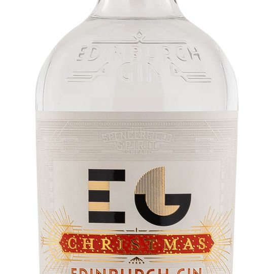 Personalised Edinburgh Gin Christmas Edition 70cl Engraved Gin engraved bottle