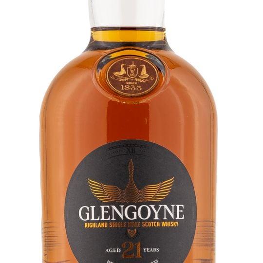 Personalised Glengoyne 21 Year Old Sherry Cask 70cl Engraved Single Malt Whisky engraved bottle