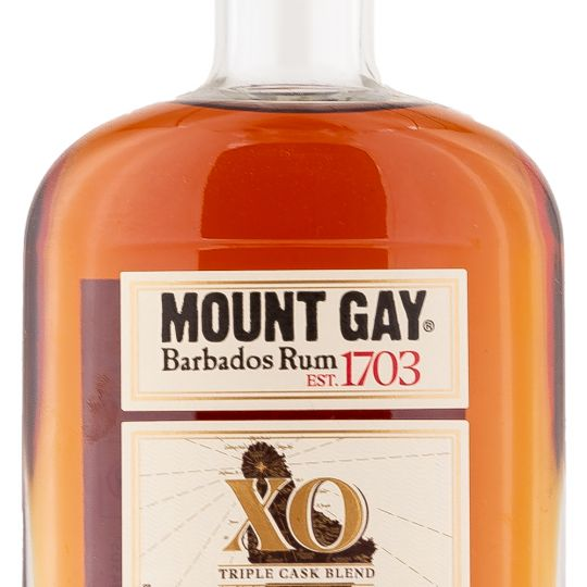 Personalised Mount Gay XO Triple Cask Blend 70cl Engraved Spiced Rum engraved bottle