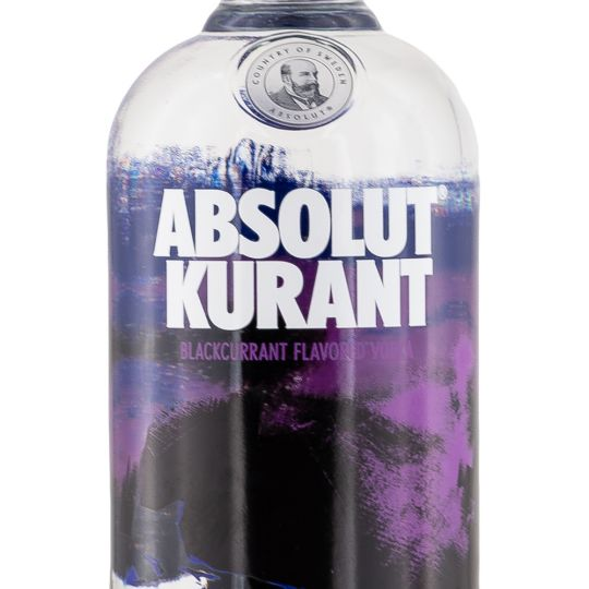 Personalised Absolut Kurant Vodka 70cl engraved bottle