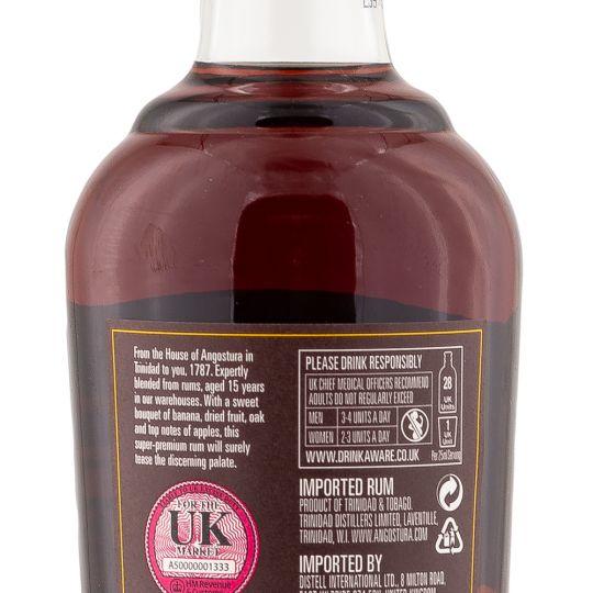 Personalised Angostura 1787 15 Year 70cl Engraved Dark Rum engraved bottle
