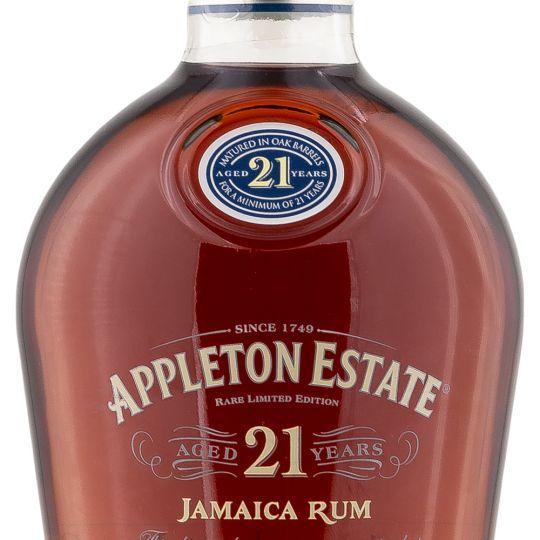 Personalised Appleton Estate 21 Year Old 70cl Engraved Dark Rum engraved bottle