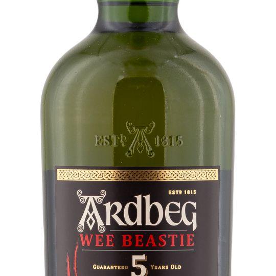 Personalised Ardbeg Wee Beastie 70cl Engraved Single Malt Whisky engraved bottle