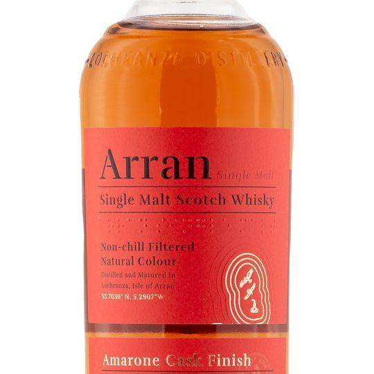 Personalised Arran Amarone Cask Finish 70cl Engraved Single Malt Whisky engraved bottle