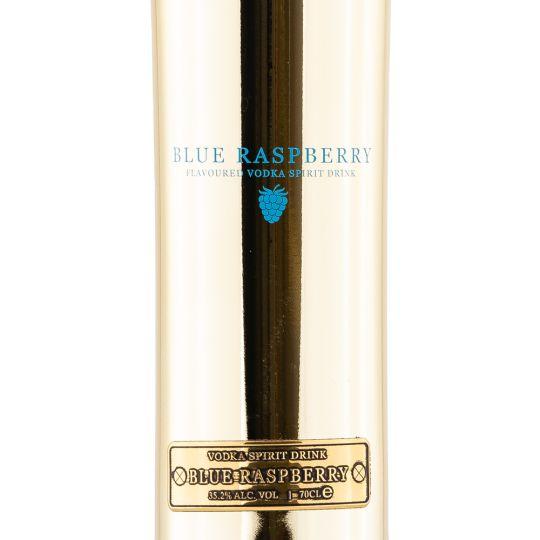 Personalised Au Vodka Blue Raspberry 70cl Engraved Flavoured Vodka engraved bottle