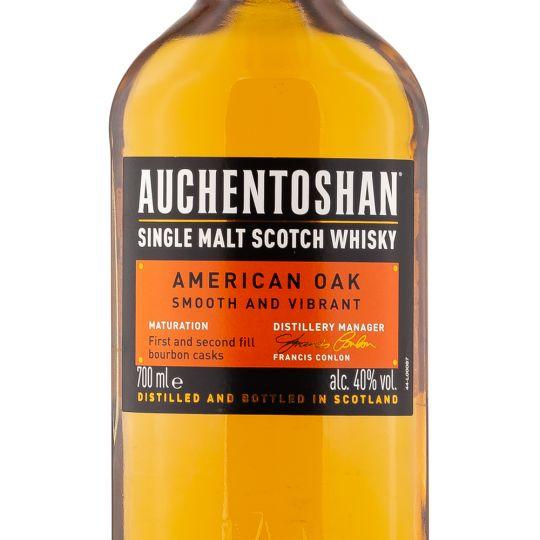 Personalised Auchentoshan American Oak Lowland Whisky 70cl engraved bottle