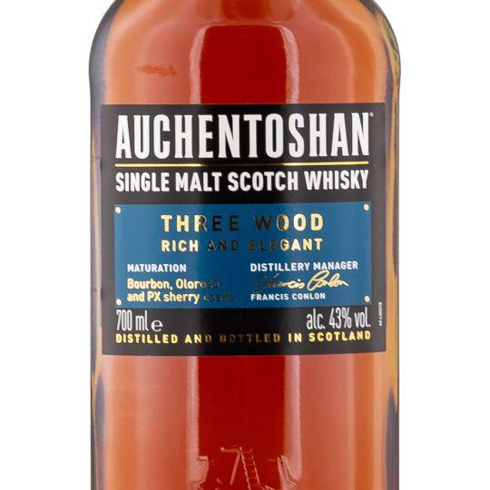 Personalised Auchentoshan Three Wood Whisky 70cl engraved bottle