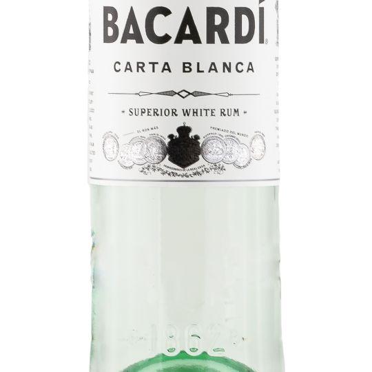 Personalised Bacardi Carta Blanca 1 Litre 100cl Engraved White Rum engraved bottle