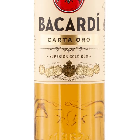 Personalised Bacardi Carta Oro Rum 70cl engraved bottle