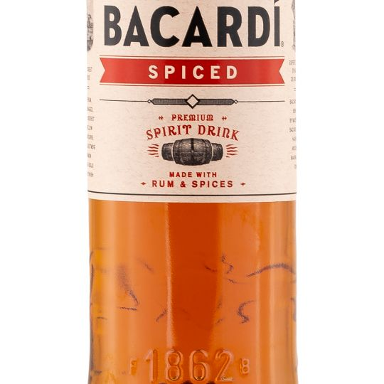 Personalised Bacardi Spiced Rum 70cl engraved bottle