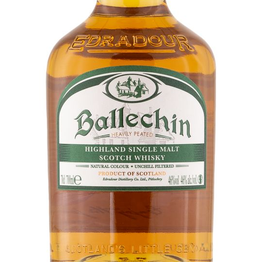 Personalised Edradour Ballechin 10 Year Old 75cl Engraved Single Malt Whisky engraved bottle