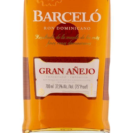 Personalised Barcelo Gran Anejo Single Modernist 70cl Engraved Golden Rum engraved bottle