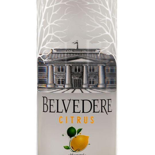 Personalised Belvedere Citrus Vodka 70cl engraved bottle
