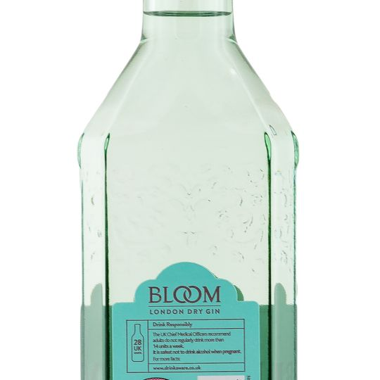 Personalised Bloom Gin 70cl engraved bottle