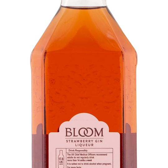 Personalised Bloom Strawberry Gin Liqueur engraved bottle