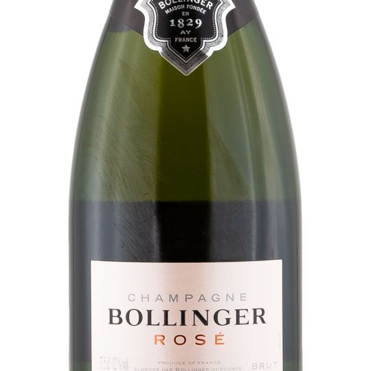 Personalised Bollinger Rose Non Vintage Half Bottle Champagne 35cl engraved bottle