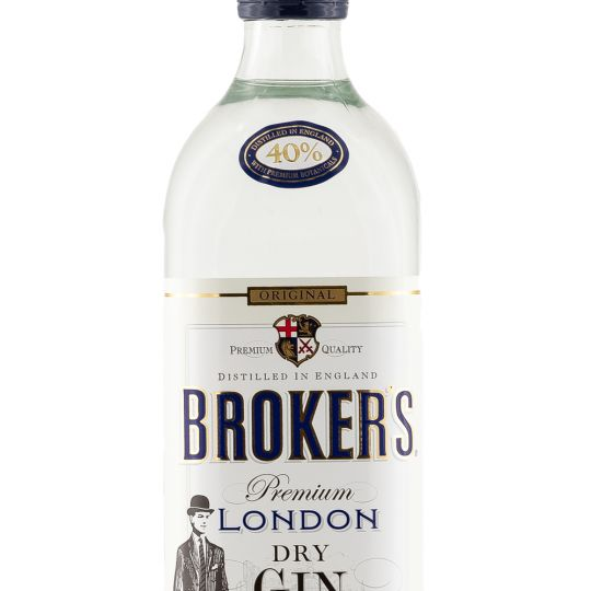 Personalised Brokers Gin 70cl engraved bottle