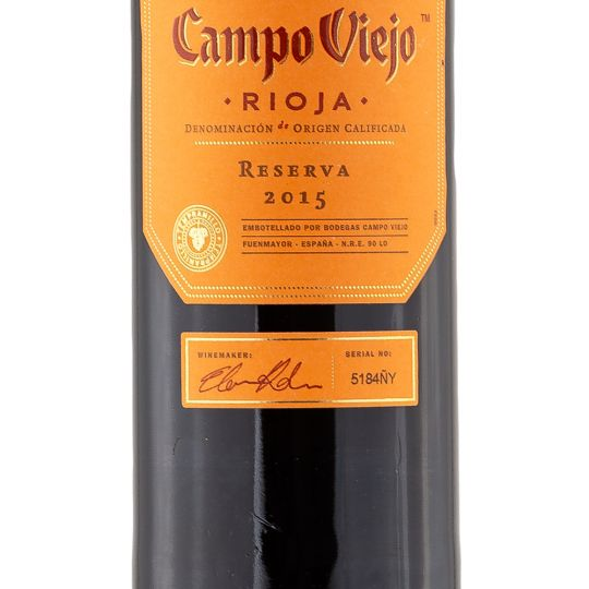 Personalised Campo Viejo Rioja Reserva 75cl Engraved Red Wine engraved bottle
