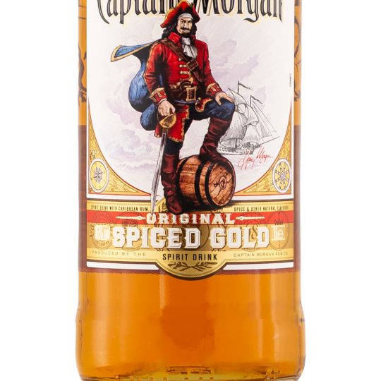 Personalised Captain Morgan Spiced Gold Rum 1 Litre engraved bottle
