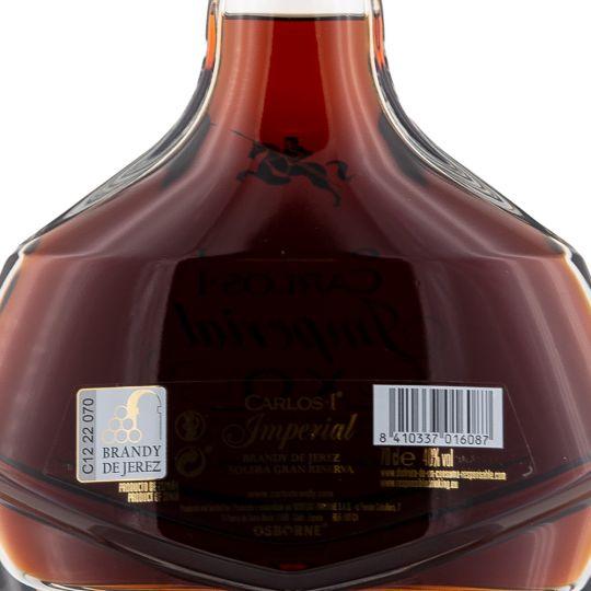 Personalised Carlos I Imperial X.O. Brandy De Jerez Solera Gran Reserva 70cl Engraved Brandy engraved bottle
